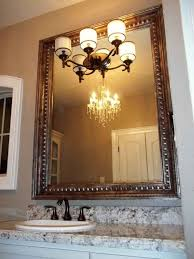 framing bathroom mirror with molding mirror molding as bathroom decoration element interior design