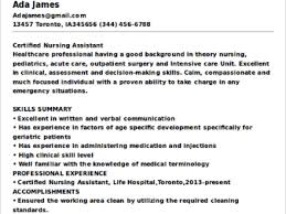 entry level cna resume examples resume example and free resume maker