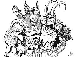 thor coloring pages marvel characters printable coloring pages