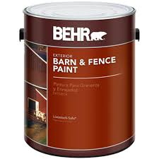 behr 1 gal red barn and fence exterior paint 02501 the home depot