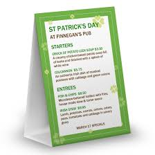 st patricks day menu templates and designs musthavemenus