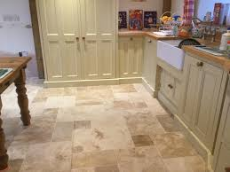 Travertine Laminate Flooring Badly Stained And Pitted Travertine Tiled Kitchen Floor Renovated