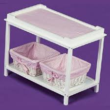 Dolls Changing Table Doll Changing Table With Two Baskets Badger Basket Co