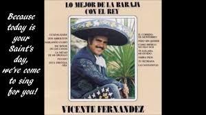 Mexican Love Quotes by Las Mañanitas Vincente Fernandez English Lyrics Youtube