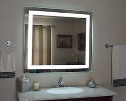 Bathroom Vanities With Mirrors And Lights Lighted Bathroom Vanity Mirror Led Wall Mounted 48 Wide X 36