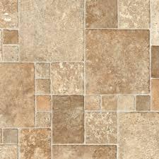 Rolled Laminate Flooring Trafficmaster Sandstone Mosaic 12 Ft Wide Vinyl Sheet U4290