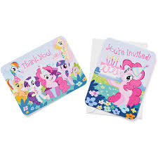 my little pony invite and thank you combo pack 8 count party my little pony invite and thank you combo pack 8 count party supplies walmart com
