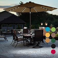 Outdoor Patio Umbrella Sundale Outdoor Solar Powered 32 Led Lighted Patio
