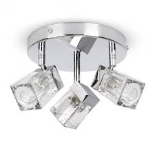 apartments elegant modern chrome ice cube 3 way bathroom ceiling