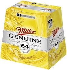 miller genuine draft light genuine draft light 64 12 pk