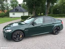 light green bmw british racing green f80 m3 in sweden