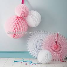 tissue paper honeycomb balls fans garlands paper wedding