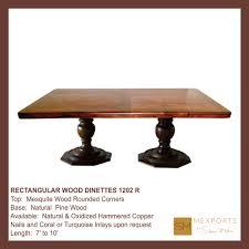 030 rectangular dining table iron chocolate finish copper