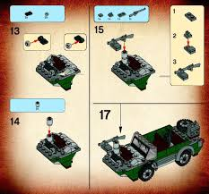 lego jeep instructions instructions for 7625 1 river chase bricks argz com