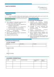 Resume Format For Freshers Bank Job by Impressive Resume Format For All Levels Get Perfect Jobs Use
