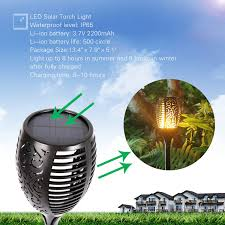 Patio Torch Lights by Amazon Com Solar Lights Dancing Flames Balight Led Waterproof