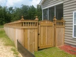 unique privacy fence ideas spindle lattice moss grove fence gate