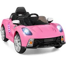 girly car brands amazon com best choice products kids 12v ride on car with mp3