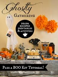 ghostly gathering party plan decor recipes printables and