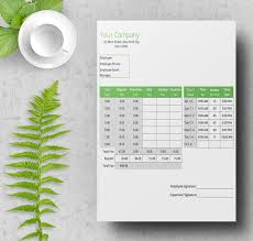 8 free time sheet templates daily monthly weekly bi