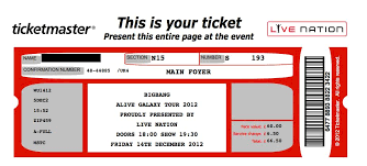 free concert ticket template fake concert ticket generator