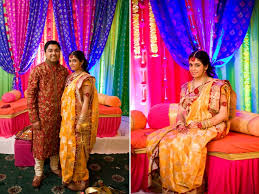 cheap indian wedding decorations colorful indian wedding real weddings new york cultural wedding