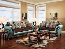 Fabric Sofa Set Mulligan Teal Leatherette Dark Brown Fabric Sofa Accent Pillows