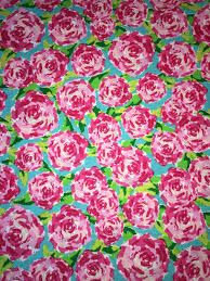 Lilly Pulitzer Home Decor Fabric by Fabric Traditions Rose Pink Fabric 1 Yard First