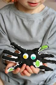 diy kid halloween keepsake handprint spiders cas home and