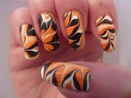 halloween water marble nails nail art ideas nailed it