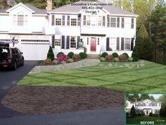 Landscape Design Backyard by Colonial House Landscaping Landscape Design With Rose And