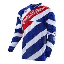 mens motocross jersey troy lee designs 2016 caution se air jersey white navy available