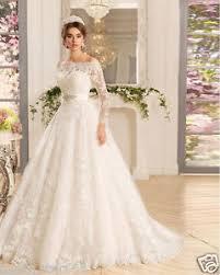 sleeve wedding dress white ivory lace sleeve wedding dress bridal gown custom size