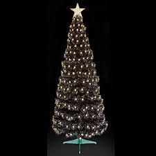 Black Christmas Tree Uk - premier decorations 6ft fibre optic multi action slim black