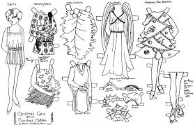 mostly paper dolls christmas paper dolls by aunt elsie club members