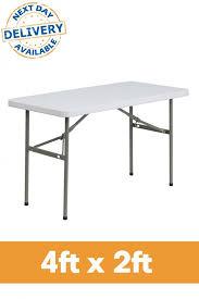 plastic fold out table 4ft x 2ft rectangle plastic folding table