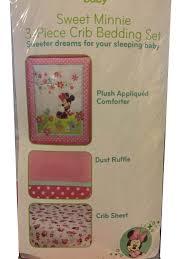 Crib Bedding Set Minnie Mouse by Amazon Com Disney Baby Bedding Sweet Minnie Mouse 3 Piece Crib