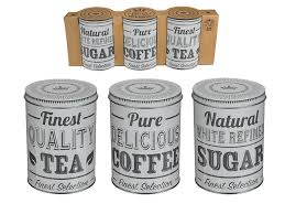 10pc liberty tea coffee sugar bread biscuit storage canisters
