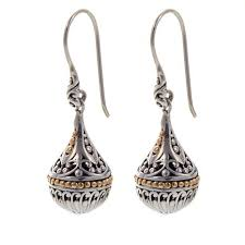 drop earrings bali designs by robert manse scrollwork small orb sterling silver