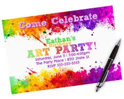 colorful invitation etsy