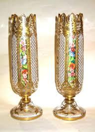 decorative glass vases large champagne glass vases antique bohemian overlay glass vases