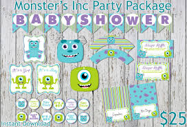 inc baby shower decorations monsters inc inspired baby shower party package