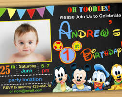 mickey mouse clubhouse 1st birthday invitations marialonghi com