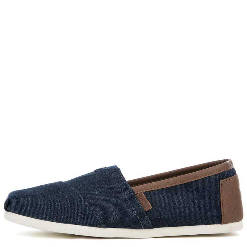 Toms Classic Denim Dark Ankle-High Canvas Slip-On Shoes 9.5M