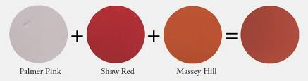 equal parts palmer pink shaw red and massey hill color mix for
