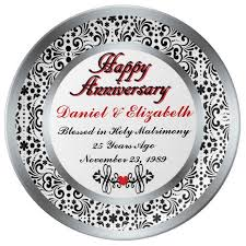 25th anniversary plates personalized 51 best 25th anniversary gift ideas images on 25th