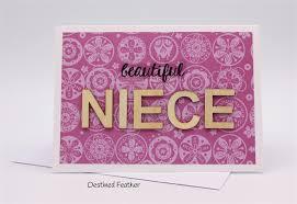 niece for niece birthday card chipboard letters happy birthday