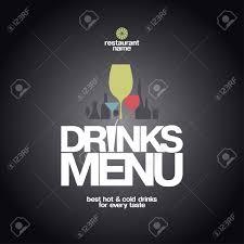 drinks menu card design template royalty free cliparts vectors