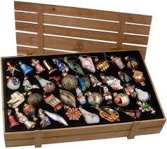 pacconi 40 blown glass ornaments with wooden box