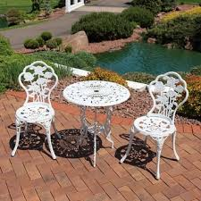Aluminum Bistro Chairs Aluminum Outdoor Bistro Sets For Less Overstock Com